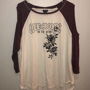 Torrid shirt 3/4 sleeves - open on side of sleeves